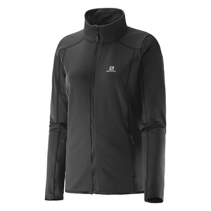 여자스키복 SALOMON DISCOVERY FZ MIDLAYER W BLACK
