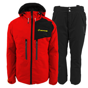 스키복 1819 ONYONE MENS OUTER JKT/PANT RED-BLACK